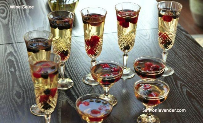wine gelee
